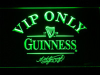Wholesale 426 VIP Only Guinness Beer LED Neon Sign with On Off Switch Colors to choose Plastic Crafts