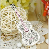 Wholesale Mini crystal violin u G gift girl cute cartoon jewelry g disk G USB guitar