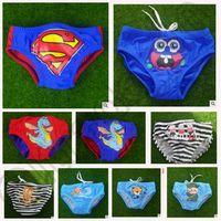 Cheap 19 design Boys Surfing Costumes Swim Trunks Superman Kid Cartoon Swim Trunks briefs Shorts Pant Swimsuit Swimwear LJJK100 20pcs