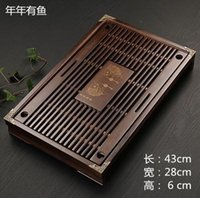 Wholesale Drawer solid wood tea tray Kung Fu tea tea tray wood wood tea tray plate entire drawer wood tea trayKung Fu tea