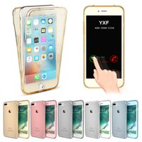 Wholesale Transparent Degree Full Protective Case For iPhone S S SE S s plus Plus Soft Silicon TPU Ultra Samart Touch Cover Fundas