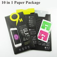 Wholesale Paper Package s7 Iphone s s plus Tempered Glass Screen Protector Anti shatter Anti fingerprint for Iphone Samsung Galaxy S6 S5 Film