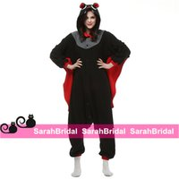 bat kigurumi - Bat Kigurumi Anime Cartoon Cosplay Party Costumes Comfy Leisure Animal Outfit Pajamas Jumpsuit for Sale Girl Halloween Unisex Homewear Cheap
