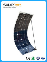 Wholesale Solarparts W flexible solar panel V solar cell module system RV car marine boat battery charger LED Sunpower light kit