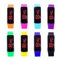 auto silicone wristband - HOT Unisex Waterproof watches LED Adjustable Silicone strap Watch sports Digital wristwatch Wristband