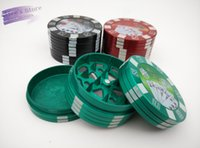 big hand poker - Hotsale Fashion aluminum big poker chip layer Tobacco Grinder hand Grinder Machine Gift Promotion GR070