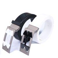 Ceintures de golf à la mode ceintures de sport de haute qualité à la mode couleurs noir / blanc dans les ceintures occasionnelles de choix Livraison gratuite