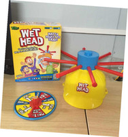 Wholesale NEWEST Wet Head Game WET HEAD CHALLENGE Jokes Funny Toys Roulette Game Tricky Cap New Table Game New Amusement Toys Wet Head ChallengeZD019B