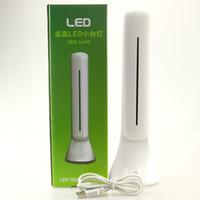 Wholesale LED sensive Desk Lamp DC V USB Rechargeable dimmable Table lamp Foldable Reading Light white lighting mode