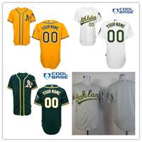 custom baseball jersey - 2016 Oakland Athletics Jersey custom Personalized Stitched baseball jerseys cheap Customized NEW green white gray yellow Custom