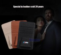 Wholesale Genuine Leather M Power M performance car glass clip sticker for BMW E39 E46 E60 E90 F10 F30 F18 E36