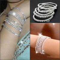 austria images - One Row Rhinestone Bracelets Crystal Bride Bracelets for Wedding Austria CZ Real Image Wristband Jewelry Bracelet