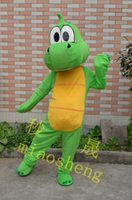 Wholesale The best dinosaur barney green dragon cartoon mascot costume dress adult