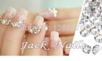 Wholesale Nail Art Rhinestone Clear crystal SS3 mm pack Glue On Non Hotfix Flatback rhinestone decorations for nails