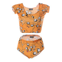 Lovely Beachwear Femme Combinaison de bain à deux pièces Polyester Bus Swim Wear Spa Ensemble de bain Rapide Sec Trésor Fetch Adventure Time LNHst