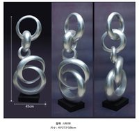 art companies - Annular ring Large modern abstract sculpture resin crafts Decoration company opening hotel lobby decoration gift ornaments