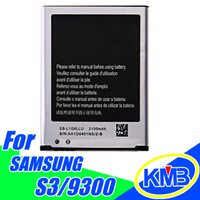 Wholesale Battery For Samsung Galaxy S3 battery i9300 EB L1G6LLU Battery Standard Li ion Replacement High Quality Battery