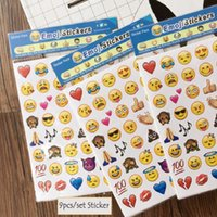 Wholesale Hot Sale Cute Emoji Smile Face Diary Sticker Cartoon DIY Tablet Phone Decals Album Stationery Paper Stickers DIY Toy
