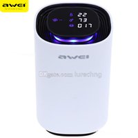 Wholesale Awei Car Motion Sensor Air Purifier Cleaner Ion Emission Temperature Humidity Fine Dust Detector Harmful Gas Alarm Ozonator White V A W