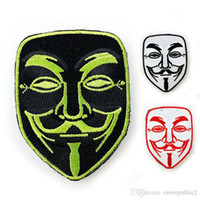 Wholesale 50 V For Vendetta Tactical Patch Morale Patches Hook Loop D Embroidery Badge Military Army Armband Badge cm free ship
