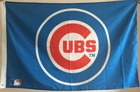 Wholesale Chicago Cubs House flags All Tems Baseball Flags Mix order Baseball Flag
