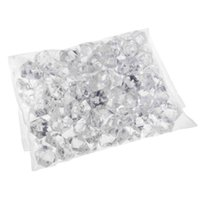 acrylic vase fillers - 1 Pack Translucent Clear Acrylic Ice Rocks Gems Crystal for Vase Fillers or Table Scatters