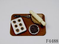 baby blueberry - G06 X533 children baby gift Toy Dollhouse mini Furniture Miniature rement Blueberry Cookies set