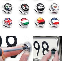 automobile license - Automobile accessories styling car license plate screws bolts with ALPINA logo badge emblem mark