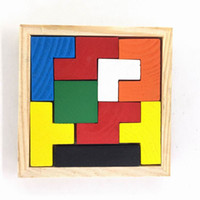 Wholesale Russian Block Jigsaw puzzles Wooden Block Puzzle Education Jigsaw PuzzleToys For Over Years Kids P C