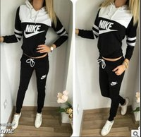 Wholesale Popular in the Europe United States foreign trade brand sports suit letters printing hooded women fashion suits Tracksuits