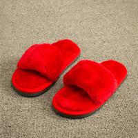Wholesale Autumn Winter Kid Unisex Soft Plush House Floor Slipper Casual Boy Girl Child Anti slip Warm Winter Slippers Home Wearproof Shoe