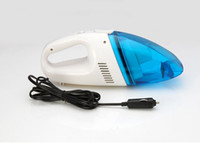 Wholesale 40Pcs Mini Portable Handheld High Power Car Vacuum Cleaner DC12V W Wet And Dry Dual use Super Suction ZB0280