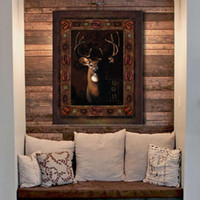 Cheap Wall Art Painting Deer Pictures Prints On Canvas Animal The Picture Decor Oil For Home Modern Decoration Prin