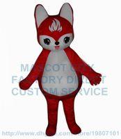 fire fox - fire fox mascot costume factory new custom adult size cartoon red fox theme anime cosply costumes carnival fancy dress