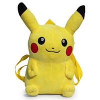 Wholesale High quality Poke Go Game Plush Children Backpack quot cm Pocket Monster Plush Toys For Kids
