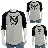 ash shirt - plus size Poke Go Team Valor Team Mystic Team Instinct Pokeball T shirt Gray men ash ketchum trainer