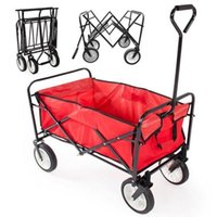 Cheap Collapsible Cart Outdoor Yard Home Red Folding Wagon Garden Utility Travel