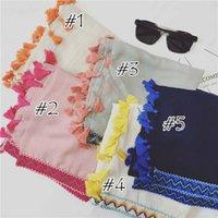 Bufanda de las mujeres con las borlas del ganchillo Ediciones de los mantones Muñecos de la manera de las mujeres Bufandas de las borlas Muñeca sólida del musulmán Hijab envuelve el otoño FS7006