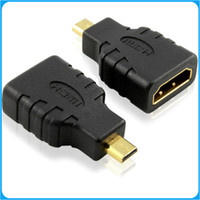 Wholesale NEW HDMI Female to Micro HDMI Type D Male Adapter F M Converter Conecter HD TV GOLD4