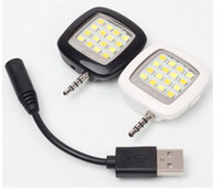 Wholesale Built in LED Lights LED FLASH for Camera Phone Support for Multiple Photography mini Selfie Sync LED Flash