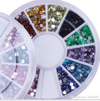 Wholesale Nail Art Glitter Tip mm Rhinestone Deco With Wheel set sets Supply