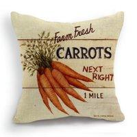 Wholesale 45CM Cushion Cover Pillow Case Throw Home Sofa Decorative Vegetable Carrot