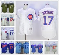 Wholesale Men Chicago Cubs Jerseys Kris Bryant Blue White PinstripeTurn Back Throwback Stitched Baseball Jerseys Cheap