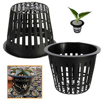 Wholesale 10pcs Black Plastic Hydroponic Planting Mesh Net Pot Baskets Garden Plant Grow Cup