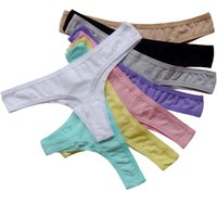 Wholesale S M L XL XXL Plus Size Panties Sexy Woman Thongs Tangas Lady Invisible Underwear Womens Knickers Seamless Tangas Mujer Black