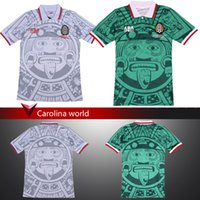 Wholesale 2016 Mexican Retro Home Green Away White Soccer Soccer Jersey T Shirt Mexico Hernandez Soccer Jersey