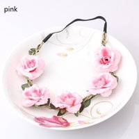 band peonies - 200pcs New High Quality Peony Women s Bohemian Floral Headbands Flower Party Wedding Hair Wreaths Hair Band Ornaments WA0569