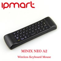 Wholesale SHIP DHL MINIX NEO A2 G Wireless Keyboard Mouse with Speaker and Microphone for Android tv box PC Media player high quality
