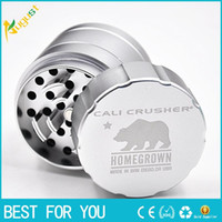 aviation parts - New High end aviation aluminum herb grinder Sharp Stone parts mm herbal cnc teeth herbal filter net dry herb vaporizer pen vaporizers po