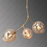 Wholesale Lindsey Adelman American Creative Glass Lights Branching Bubble Glass Chandelier Modern Art Pendant Light Office Living Room Light